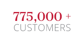 645,000+ Customers